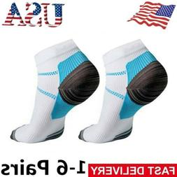 1-6Pair Compression Socks Plantar Fasciitis Arch Ankle Runni