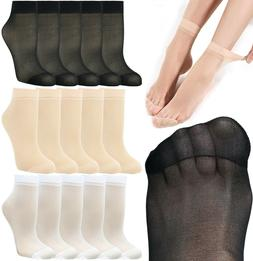 10 Pairs Women's Soft Ankle High Sheer Socks Hosiery