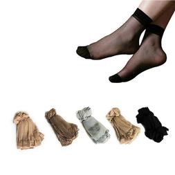 10 Pairs Women's Ultra-thin Silky Ankle High Short Socks Sex