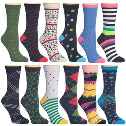12 Pack Women's Colorful Patterned Fashion Ladies Cotton Doz