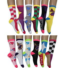 12 Pack Women's Colorful Patterned Fashion Crew Socks by Fre