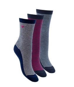 Women's Cotton Casual Fashion Dress Socks 3 Pack Multicolor