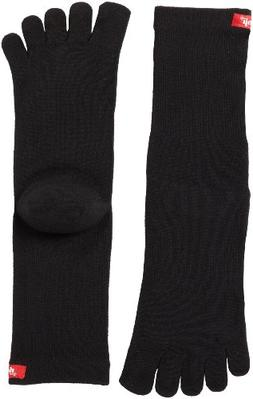 Injinji 2.0 Men's Sport Crew Toesocks, Black, Medium
