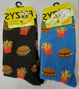 2 pairs foozy burgers and fries womens