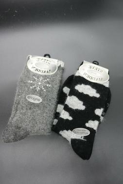 2 pairs of women s angora socks