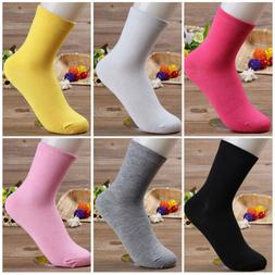 2Pairs Women Candy Color Breathable Cotton Ankle Socks Sport