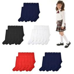 3, 6 ,12 Pairs Lot Women Girl Knee High School Uniform Socks