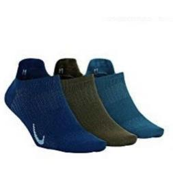 Nike 3 Pack Lightweight No Show Socks Blue Teal Green SX7069