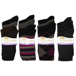 4 Pairs Gold Toe Socks Women Knee High Socks Cute Long Girls