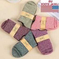5 Pairs Women's Soft & Comfortable & Warm Thick Wool Cashmer