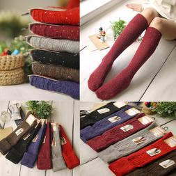 5 Pack 90%Wool Cashmere Women Knee-High Thick Warm Design So