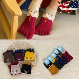 5 Pairs Womens Cotton Toe Five Finger Socks Breathable Ankle