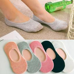 5Pairs Candy Color Solid Invisible Non-slip <font><b>Low</b>