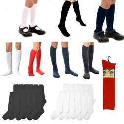 6~12 Women Girl Pairs Knee High Uniform School Socks Junior