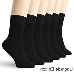 6 Pack Thin High Ankle Cotton Socks Women Men LightWeight Cr