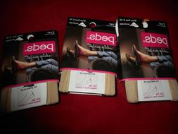 6 Pair Peds Pediquette Gel Tab Womens No Show Great Quality