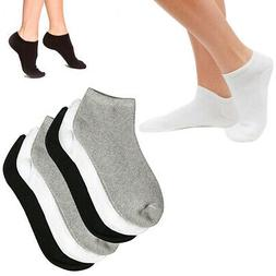 6 Pairs Women Ankle Socks Ped Low Cut Fit Crew Size 10-13 Sp