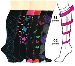 Different Touch 6 Pairs Women Moderate 15-20 mmHg compressio