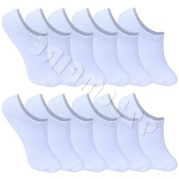 6 Pairs Women's No Show Liner Socks Invisible - White Peds