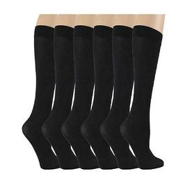 6 Pairs Different Touch Women's Queen Size Opaque Stretchy N