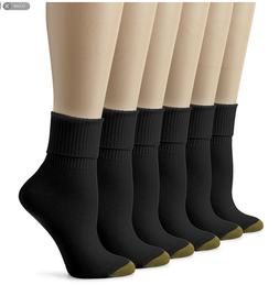 6 Pairs Women's Socks, Women's Ribbed Crew White Socks