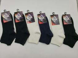6 Pairs Womens Ankle Socks Low Cut Sport Crew Athletic Peds
