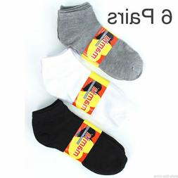 6 Pairs Womens Ankle Socks Solid Low Cut Sport Crew Athletic