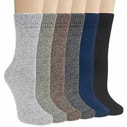 Loritta 6 Pairs Womens Socks Comfy Dress Colorful Knit Cotto