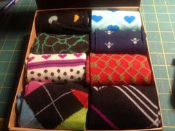 Frenchic 8pr Womans crew socks gift box