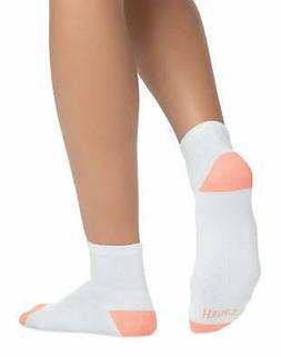 Hanes Ankle Socks 6 Pack Womens Cool Comfort Wicking Comfort