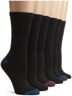 Hanes Women's Big-Tall Comfort Blend Crew Extended Size Sock
