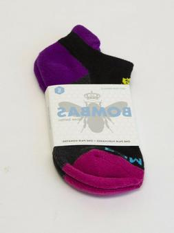 Bombas Black and Ultraviolet Ankle Socks Women's Size Small