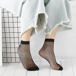 Black Fishnet Ankle Socks, Fashion Sexy, Short Stocking Hosi