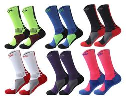 Colorful Crew Compression Sports Socks For Men/Women/Boys/Gi
