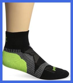 Balega Enduro V-Tech Quarter Running Sock Black/Grey/N Yello