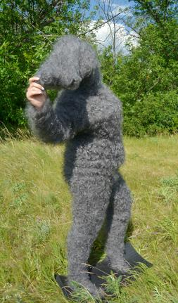 Extreme catsuit Overals 100% goat down T-neck sweater pants