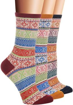 Flora&Fred Women's 3 Pair Pack Vintage Style Ethnic Cotton C