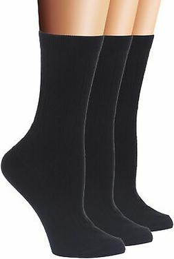 Flora&Fred Women's Cable Knit Cotton Crew Socks, Size 9-11 /