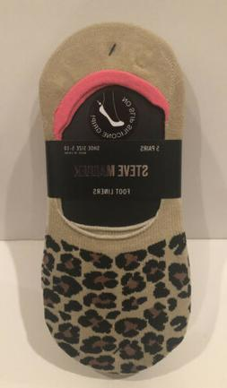 Steve Madden Foot Liners No Show Socks 5 Pack