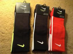 Nike Football Vapor Knee High Socks Black or Red  1 Pr SX573