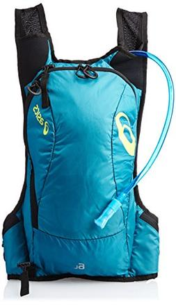 ASICS Fujitrail Backpack, Cool Teal/Electric Lime, All