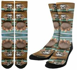 Hanging Sloth Socks - Crazy Socks - Sloth Clothing - Unisex