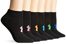Under Armour HeatGear No Show Athletic Socks for Ladies - 6-