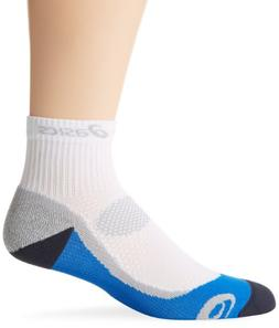 ASICS Kayano Classic Quarter Socks, White/Iron/Fresh Blue/Fr