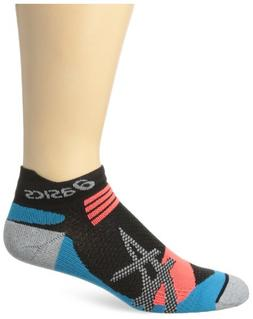 ASICS Kayano Single Tab Sock, Black/Atomic Blue, X-Large