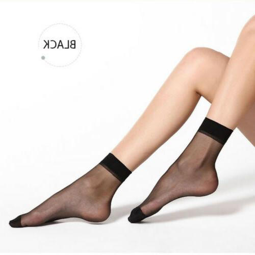 10 Pairs Women Elastic Sheer Stockings Socks USA
