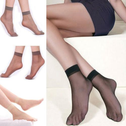 10 Pairs Elastic Short Sheer Stockings USA