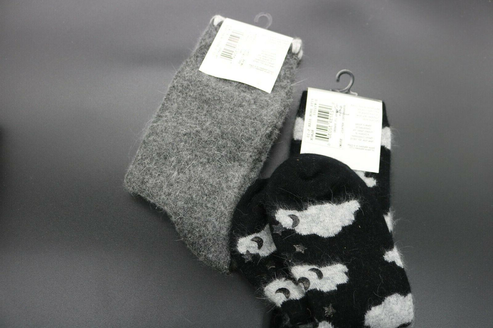 2 Steve Socks Gray Clouds