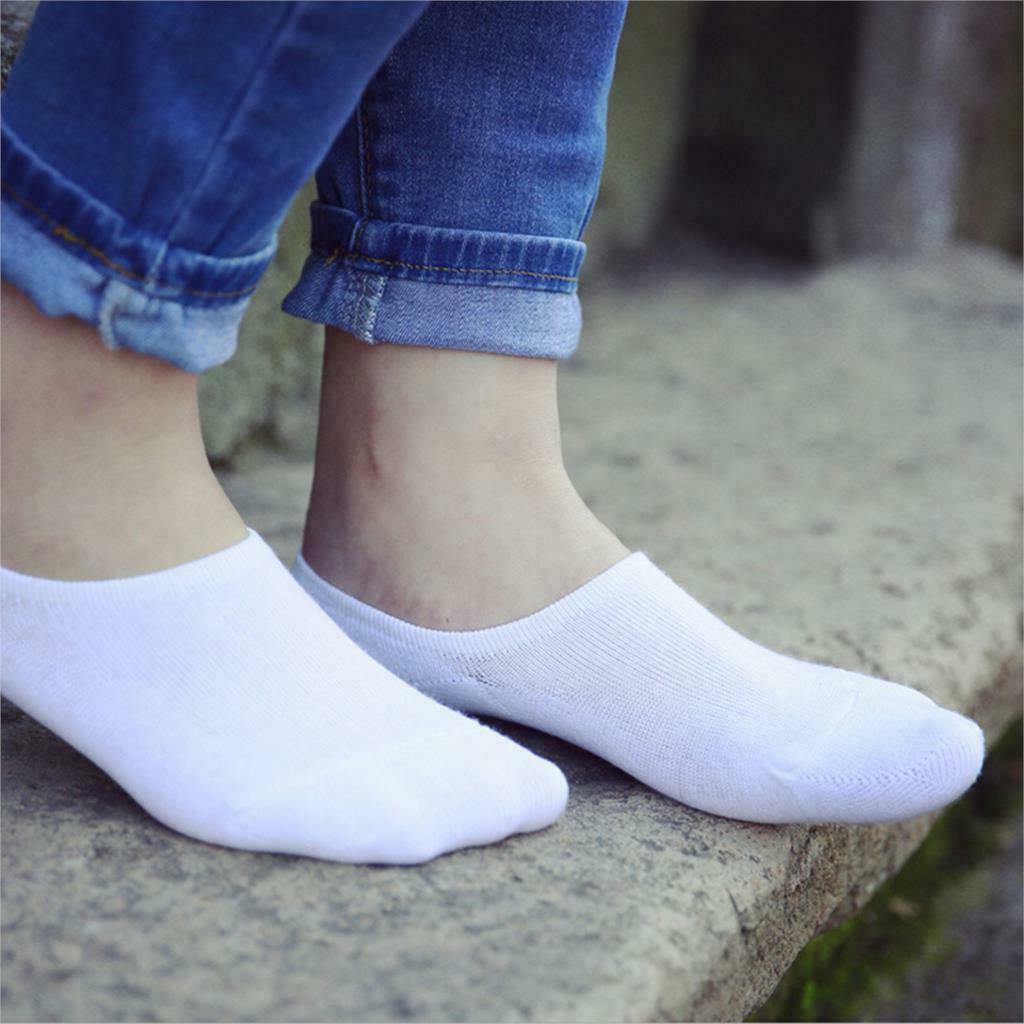 3-12 Pairs Womens Boat Invisible Show Low Cut Cotton Socks