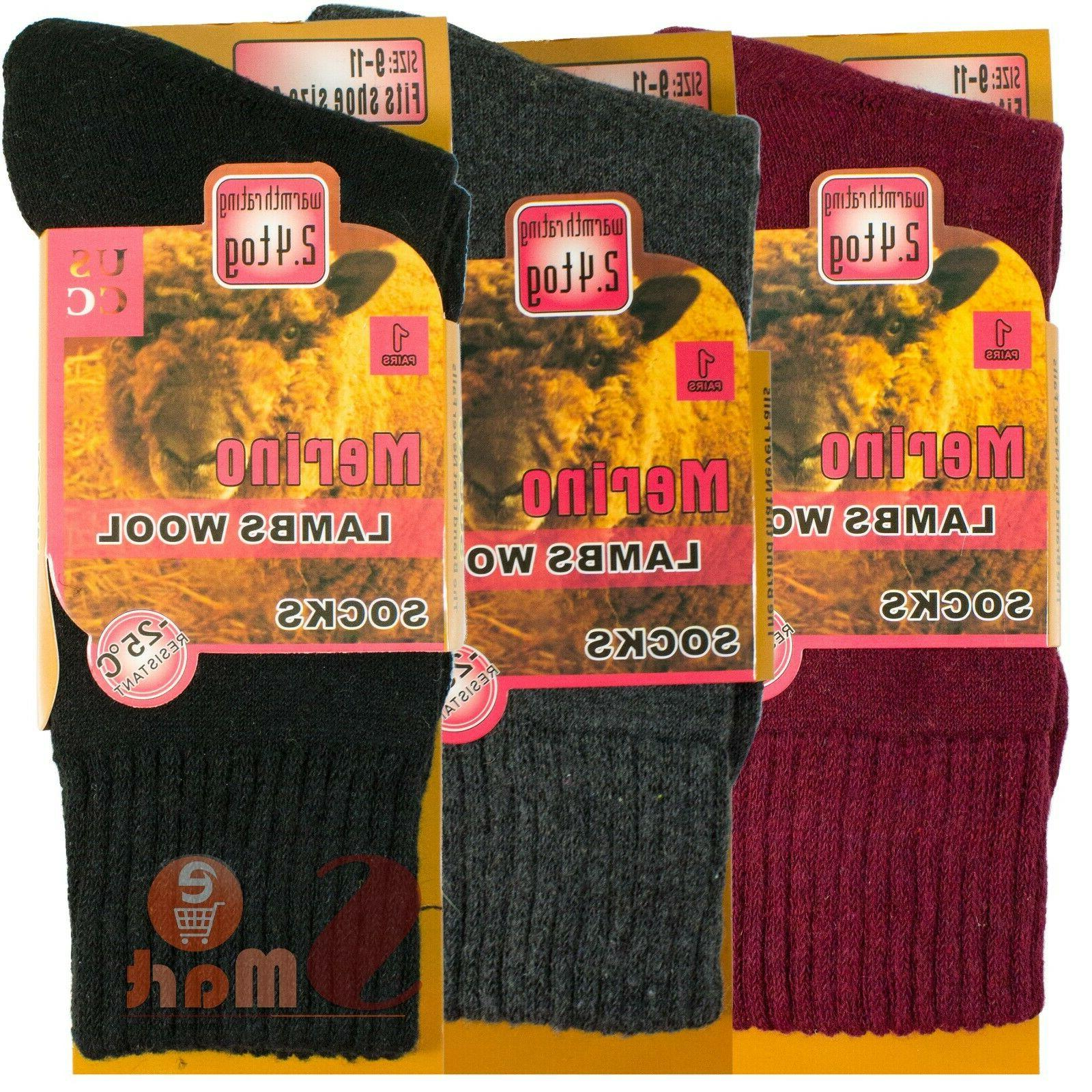 3 Wool Heated Thermal Boots Socks Womens